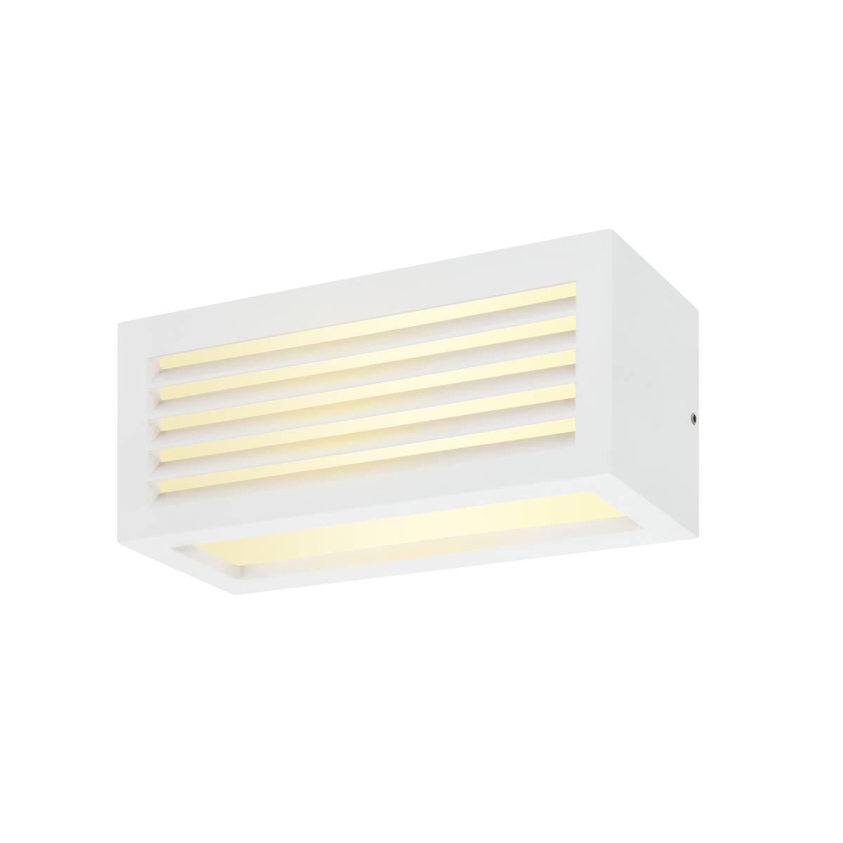 SLV buiten wandlamp Box-L - wit