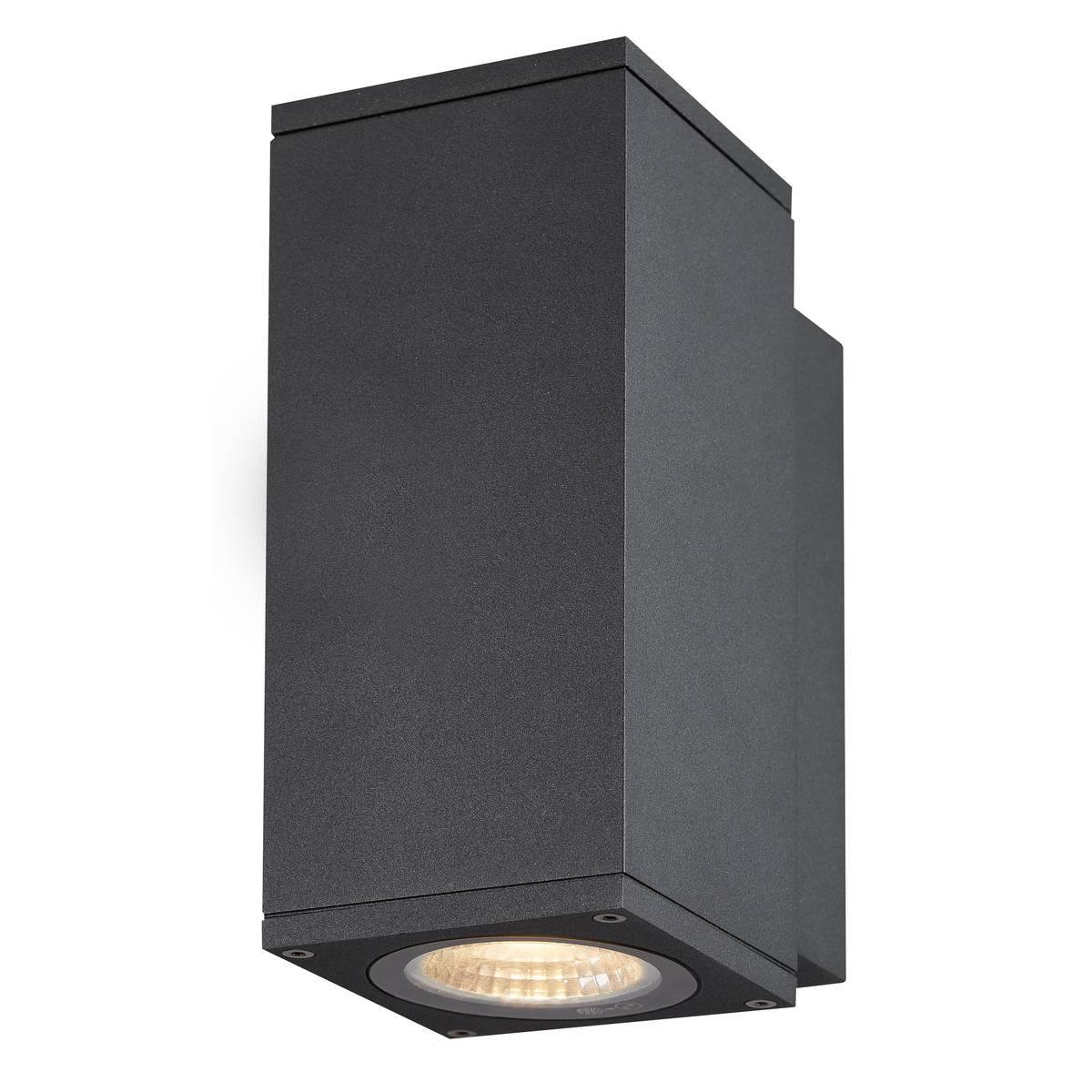 SLV buiten wandlamp Enola Square S - antraciet