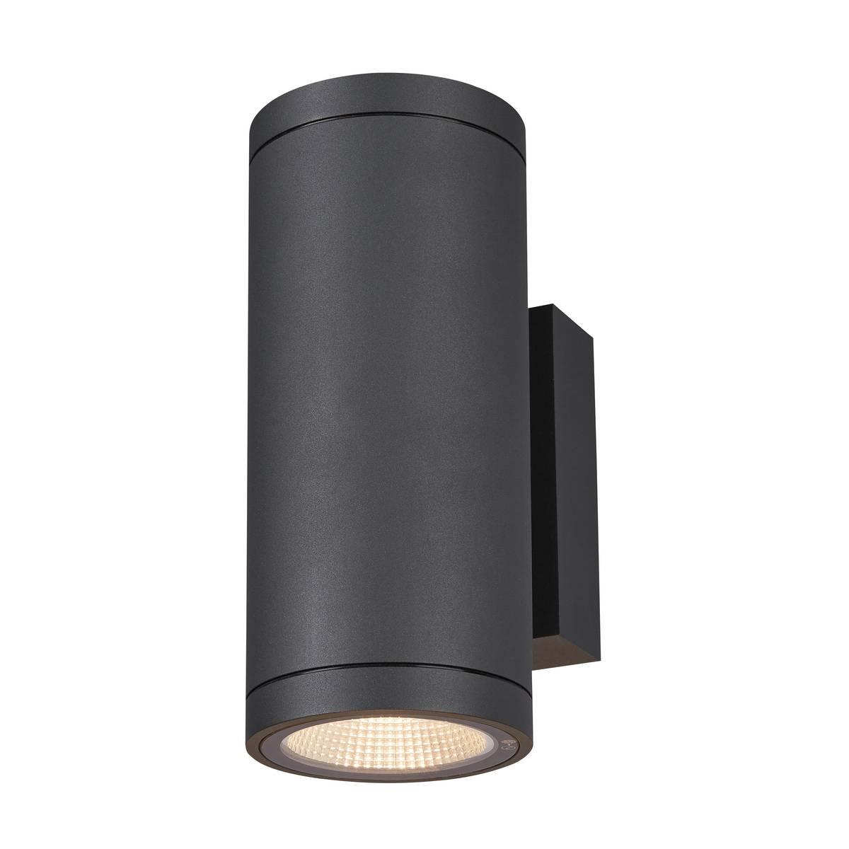 SLV buiten wandlamp Enola Round Up/Down M - antraciet