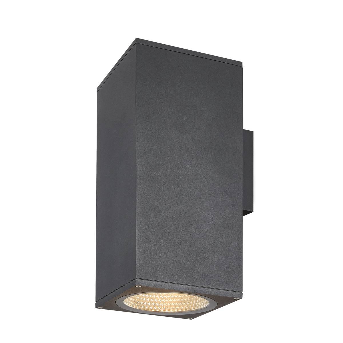 SLV buiten wandlamp Enola Square Up/Down L - antraciet