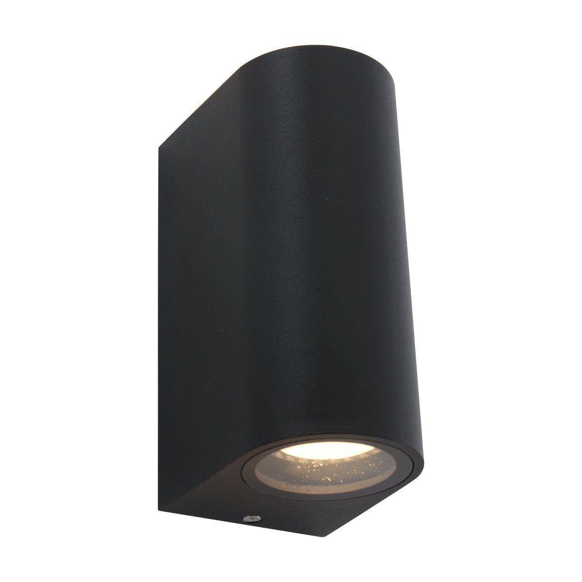 Steinhauer buiten wandlamp Logan cilinder 2 lichts - zwart