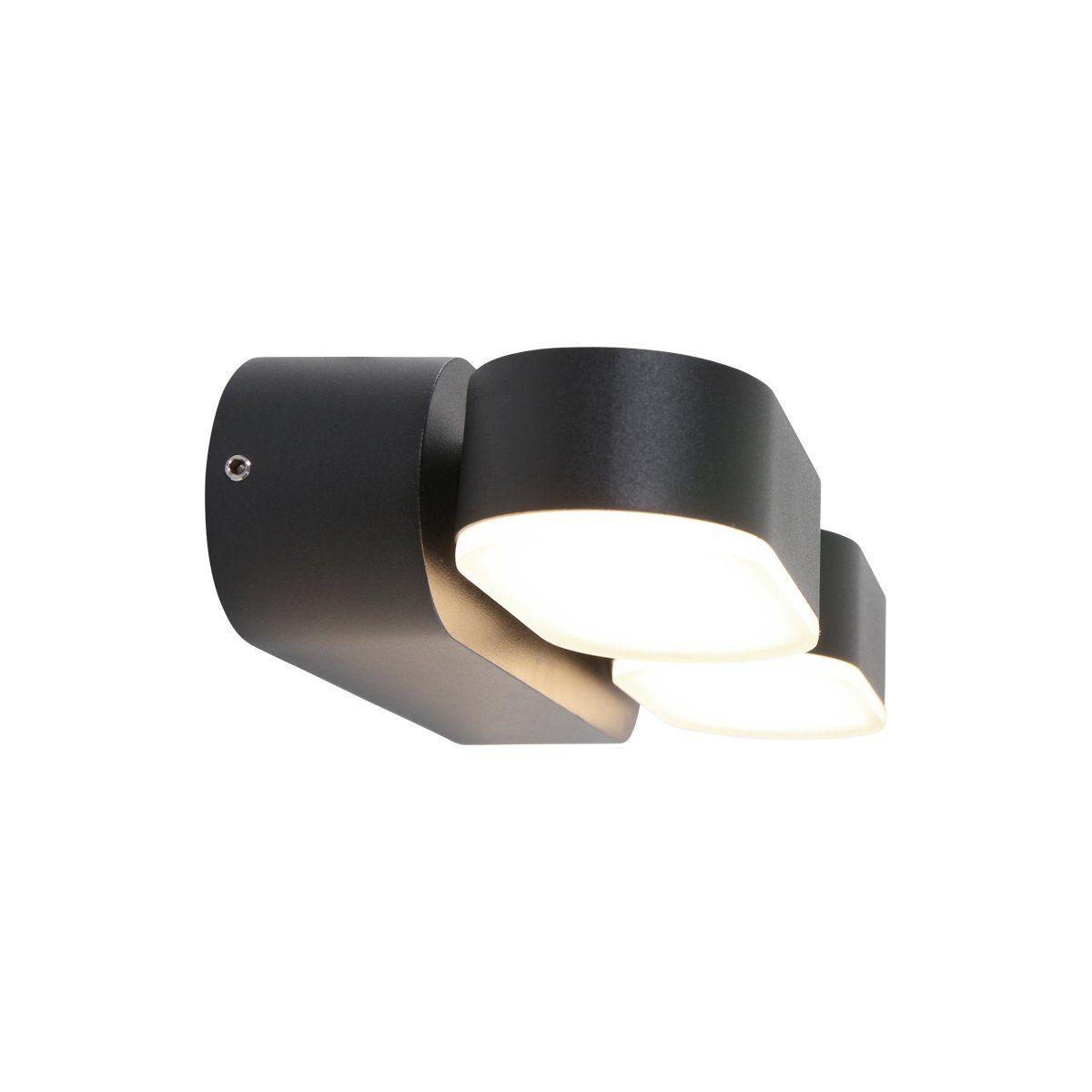 Steinhauer buiten wandlamp Jade 2 lichts - zwart