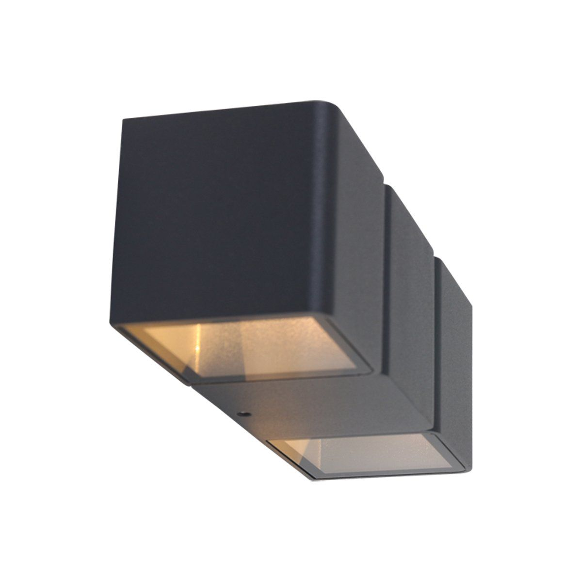 Steinhauer buiten wandlamp Jax 2 lichts - zwart