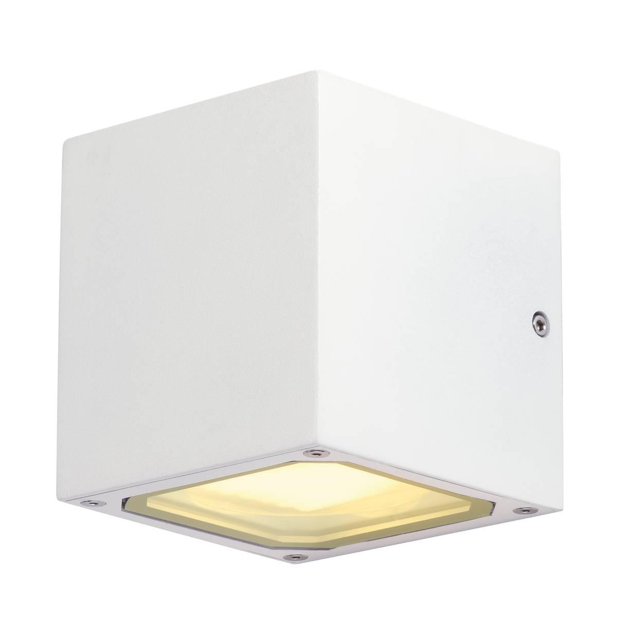 SLV buiten wandlamp Sitra Cube - gx53 - wit