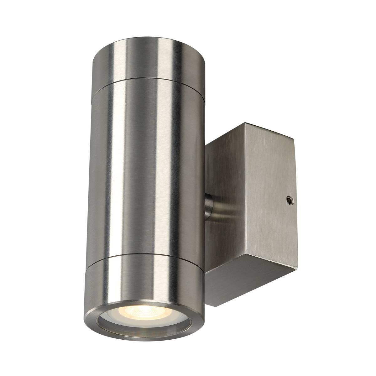 SLV buiten wandlamp Astina Steel - Gu10 - roestvrij staal