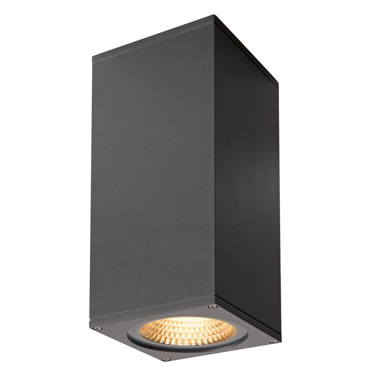 SLV buiten wandlamp Big Theo Wall - antraciet 2xflood