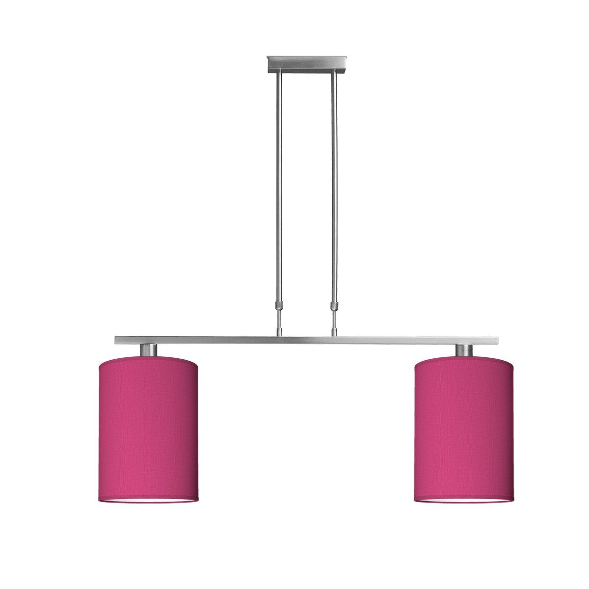 hanglamp bridge 2 tube Ø 25 cm - roze