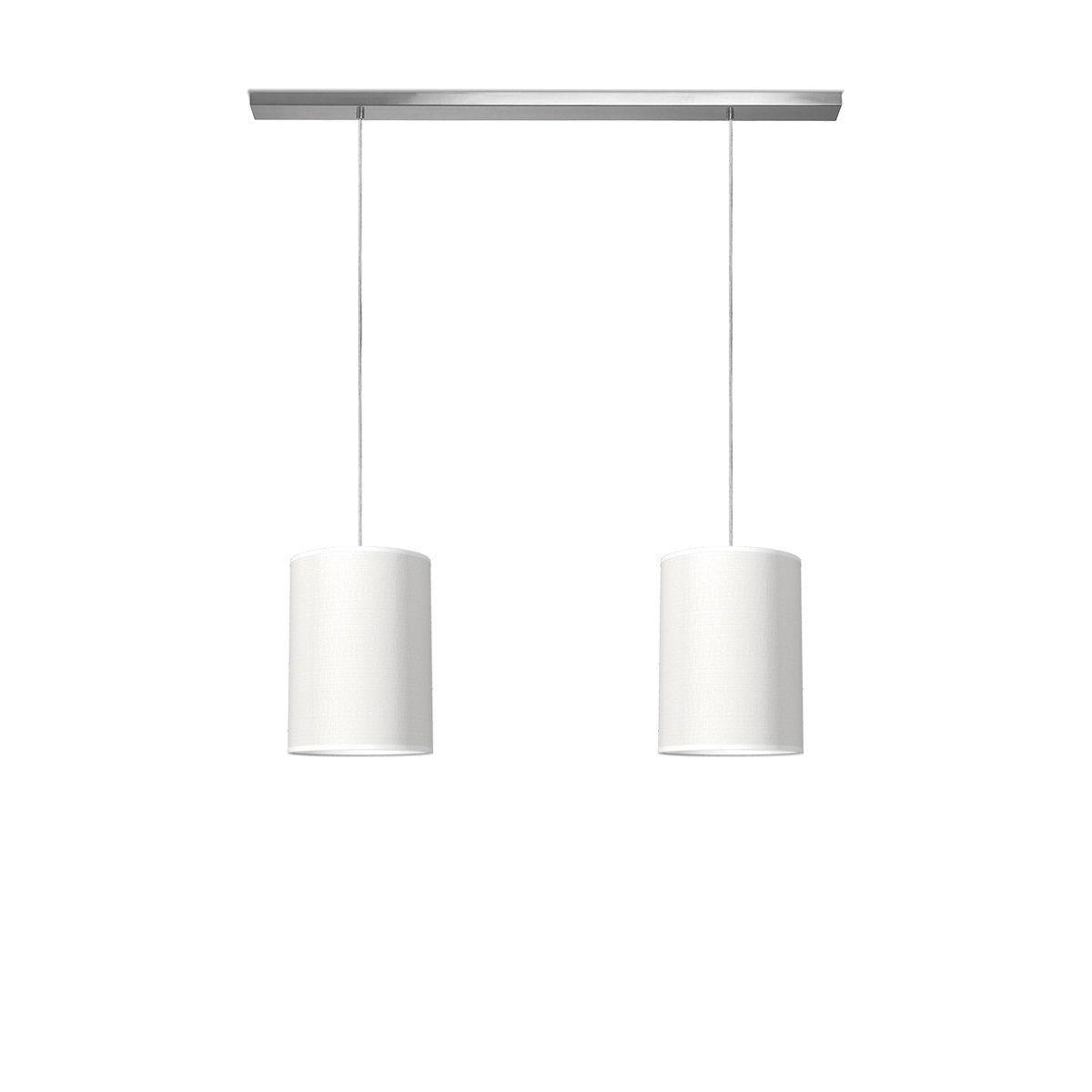 hanglamp beam 2 tube Ø 25 cm - wit