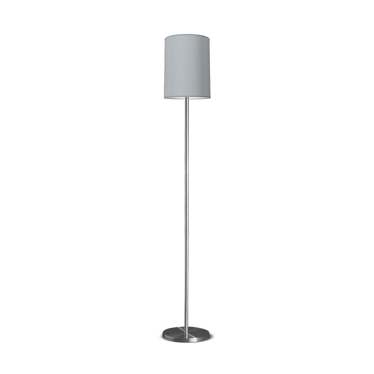 vloerlamp Mauro Tube Ø 30 cm - lichtgrijs