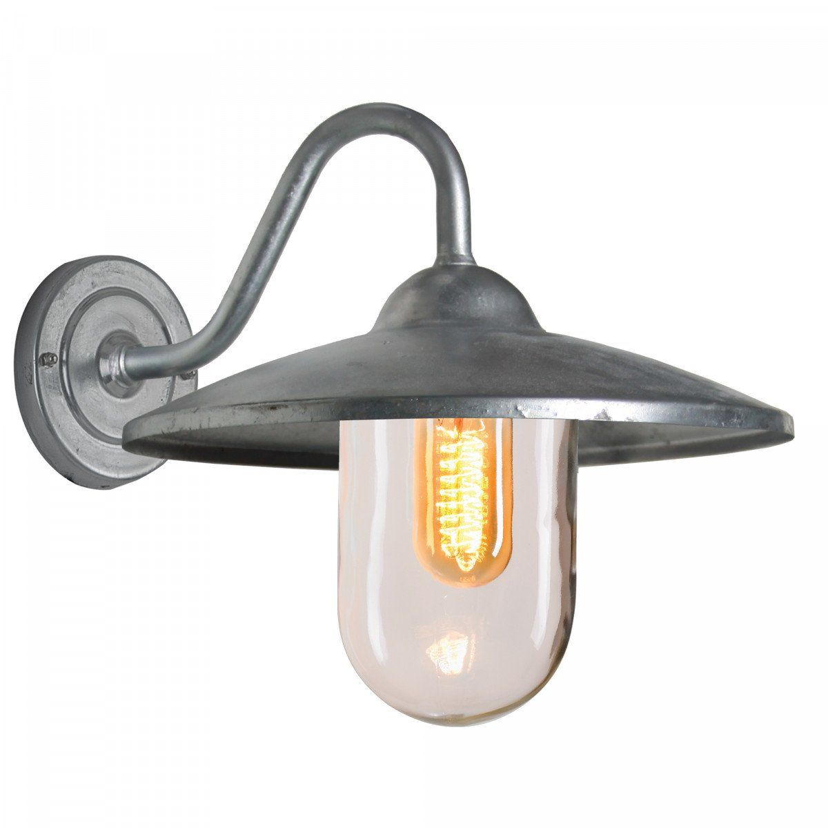 KS Verlichting buiten wandlamp Brig - zilvergrijs