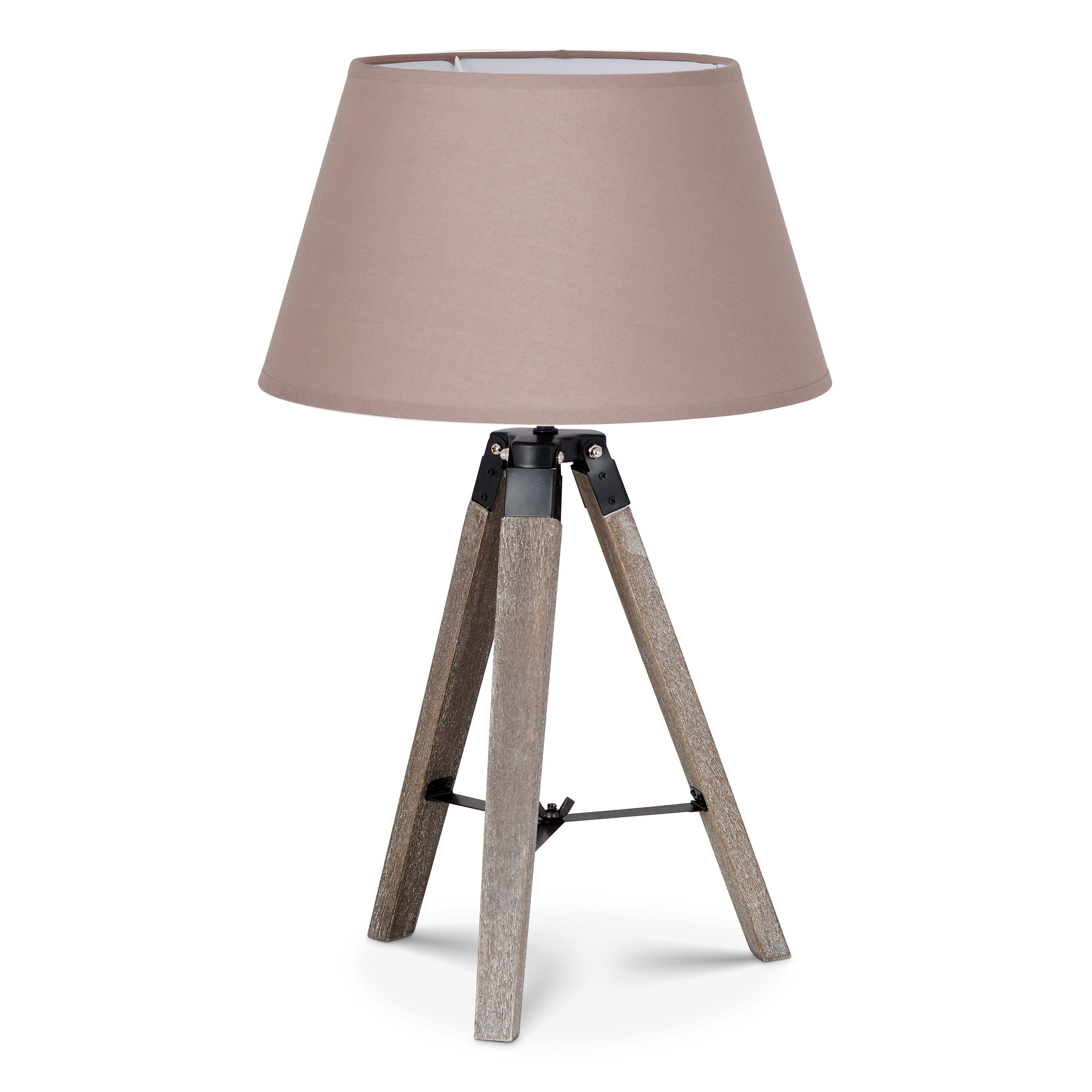 Home sweet home tafellamp Dia bruin met lampenkap Largo - taupe