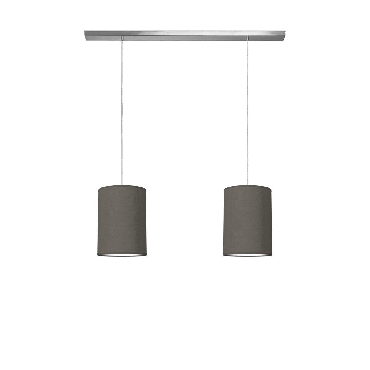 hanglamp beam 2 tube Ø 25 cm - antraciet