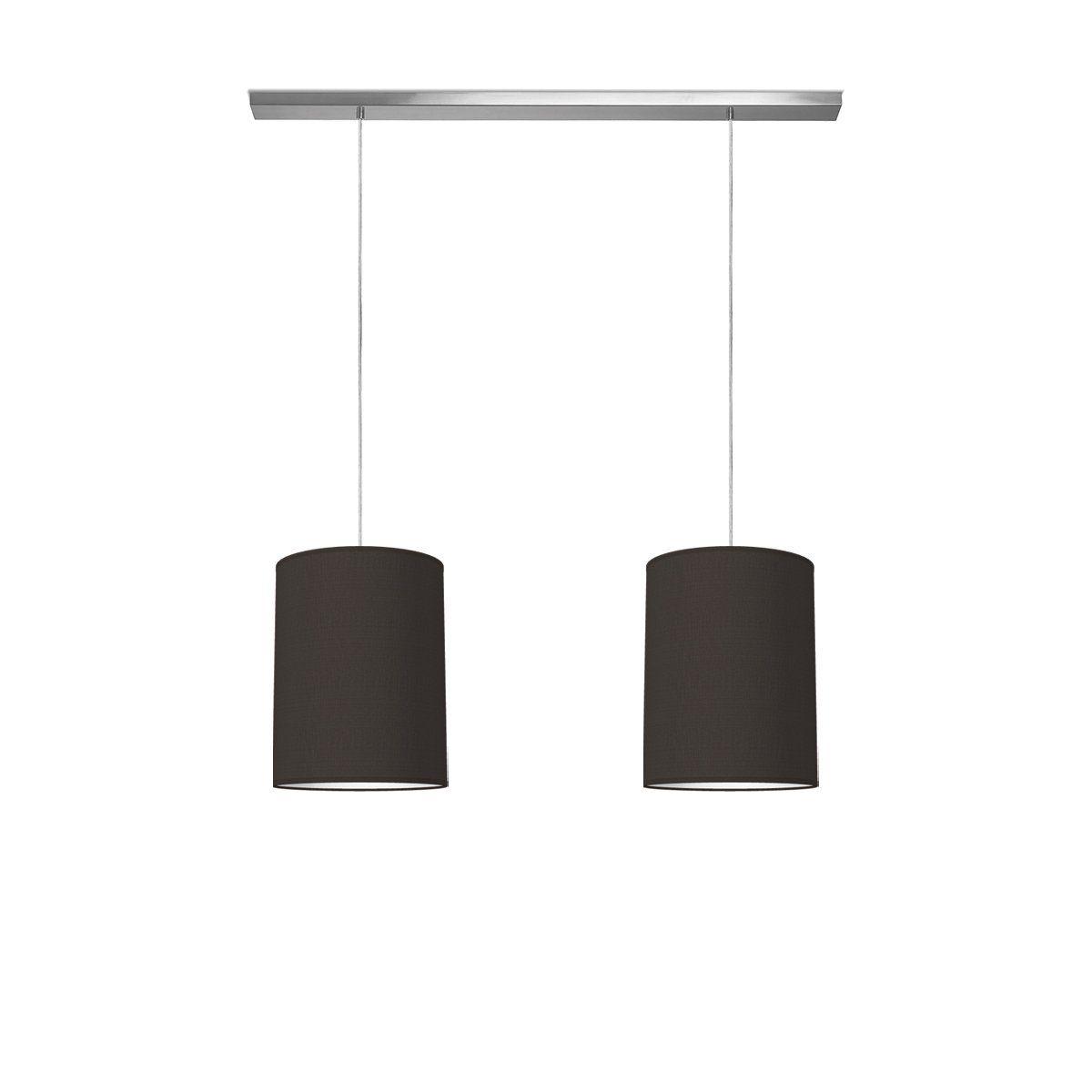 hanglamp beam 2 tube Ø 30 cm - zwart