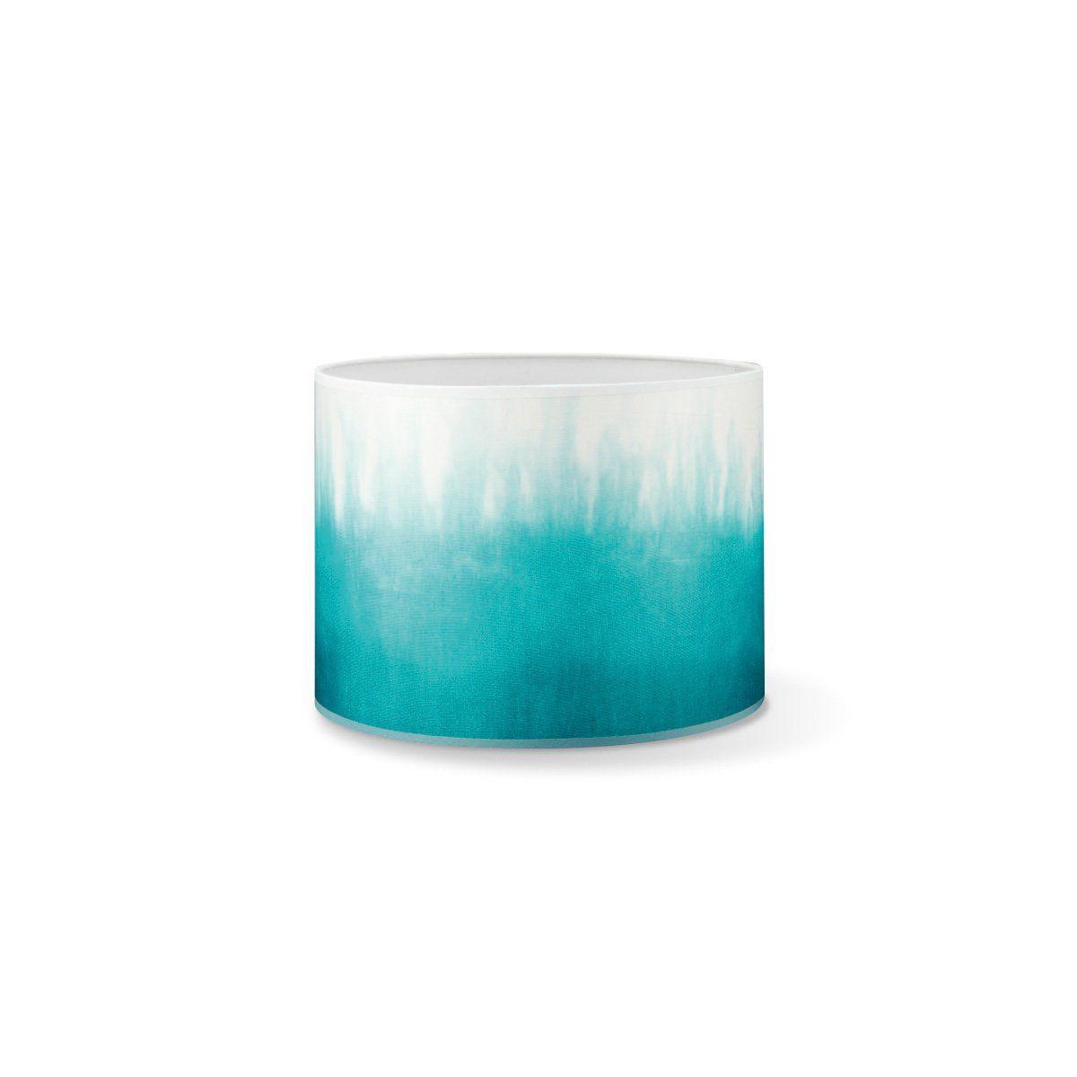 Home sweet home lampenkap Dip 25 - print turquoise/wit