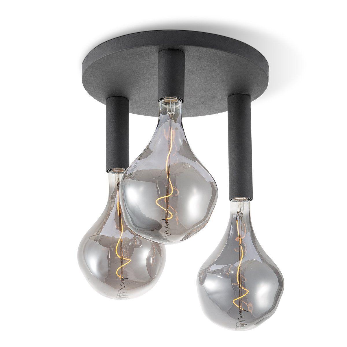 Home sweet home plafondlamp Drip rond 3 lichts - zwart