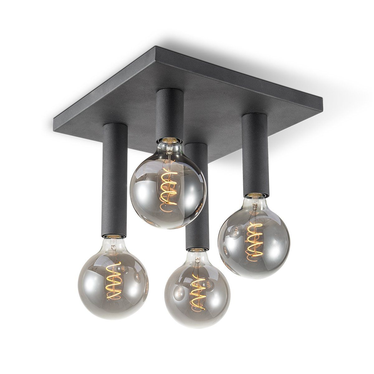 Home sweet home plafondlamp Drip 4 lichts - zwart