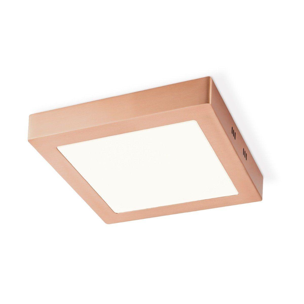 Home sweet home LED plafondlamp Ska vierkant 22,5 - koper
