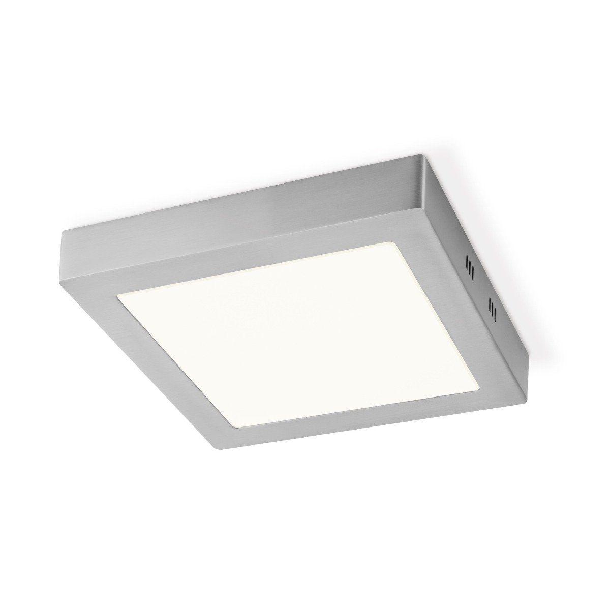 Home sweet home LED plafondlamp Ska vierkant 22,5 - mat staal