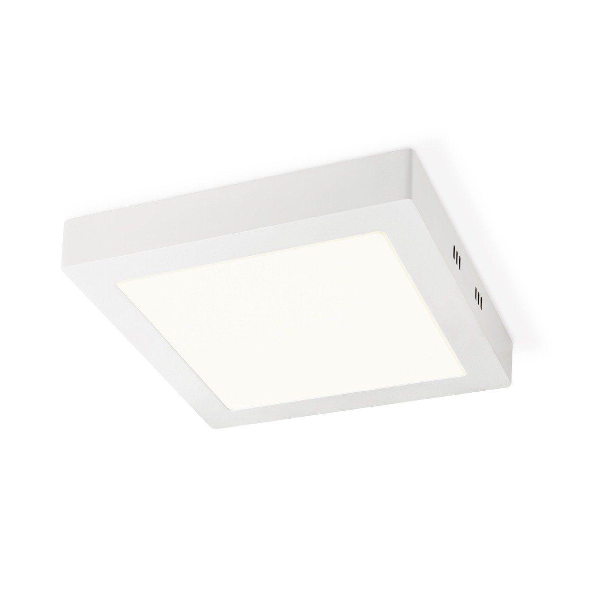 Home sweet home LED plafondlamp Ska vierkant 22,5 - wit