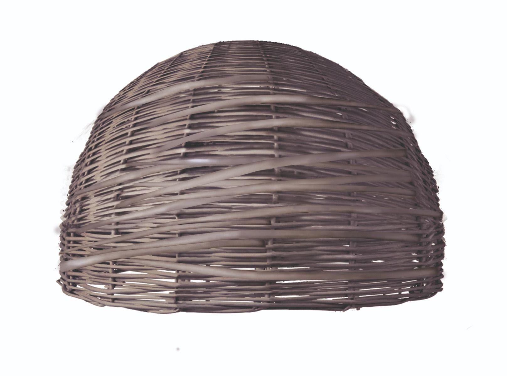 Home sweet home lampenkap Roseau Shell 40 rond - bruin
