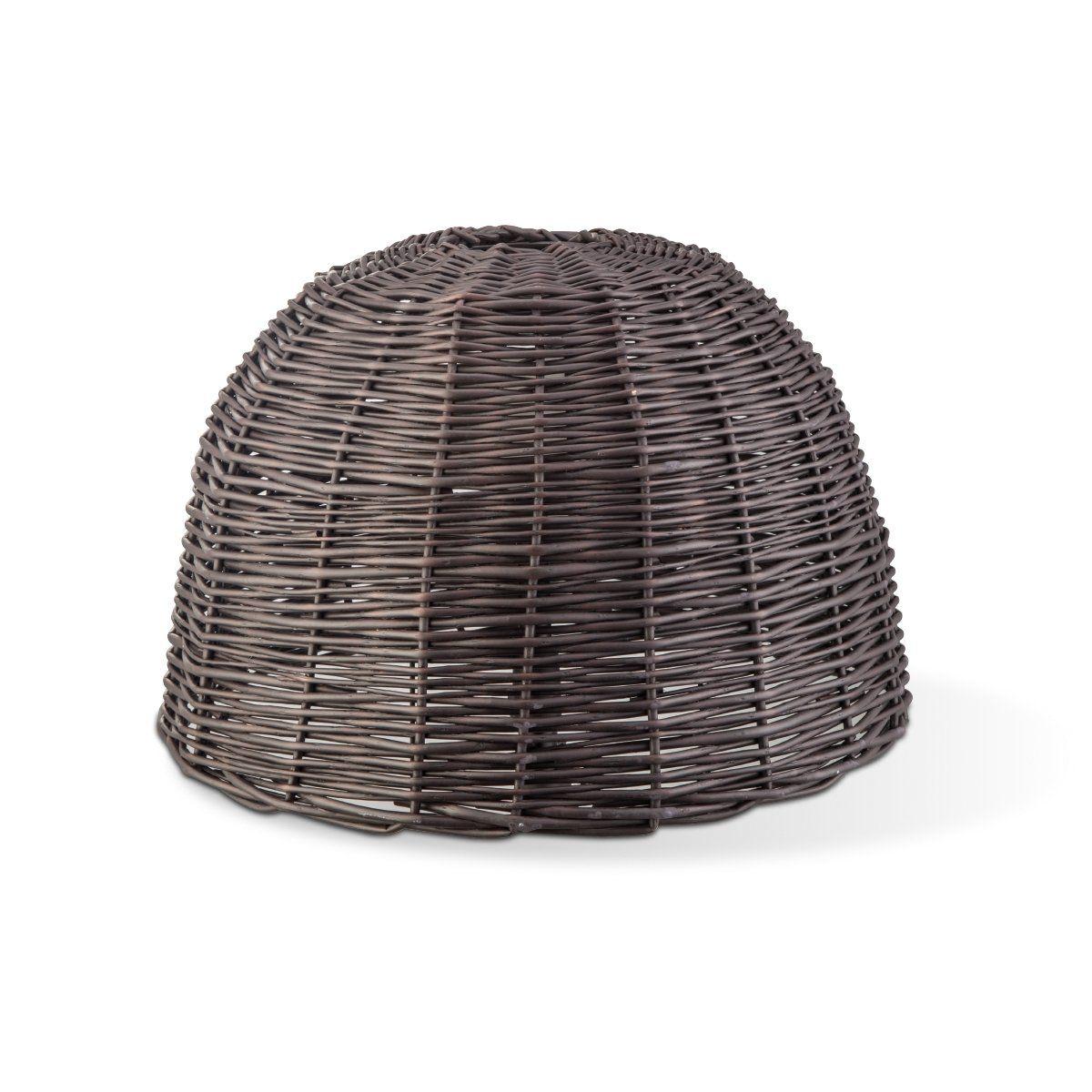 Home sweet home lampenkap Roseau Shell 50 rond - bruin