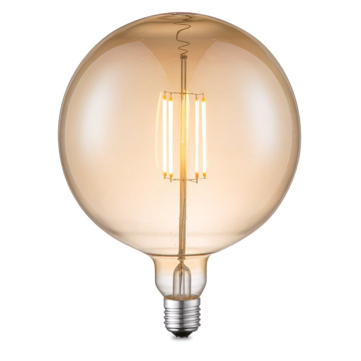 Home sweet home LED lamp Globe G180 E27 4W dimbaar - amber