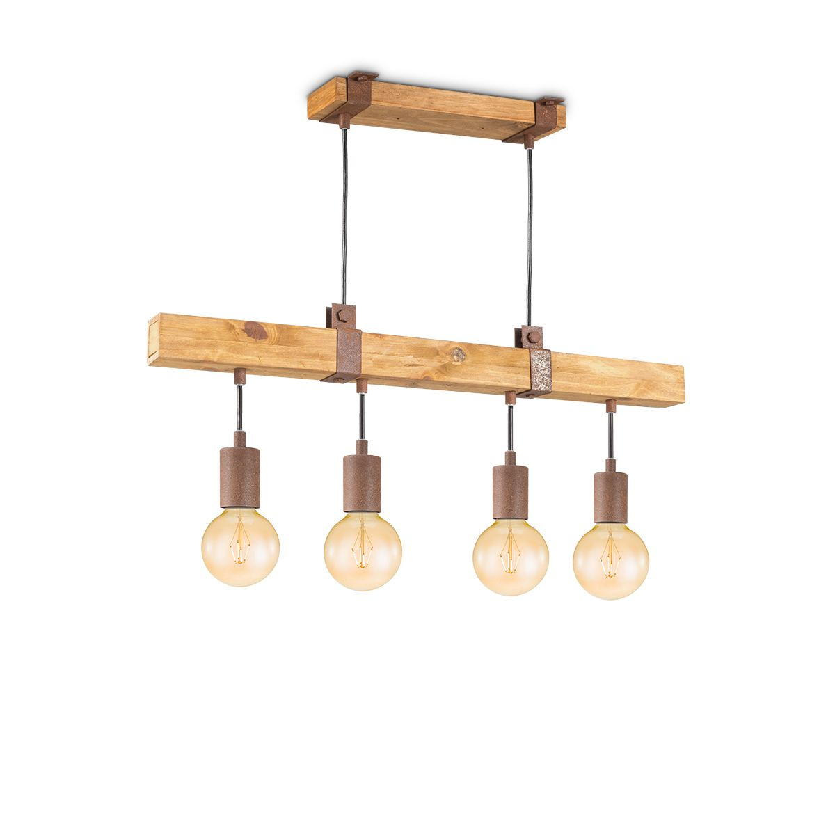 Home sweet home hanglamp Denton 4L - hout - roest