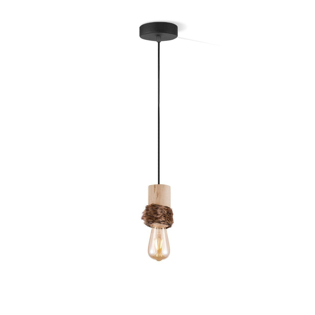 Home sweet home hanglamp Furdy small - hout