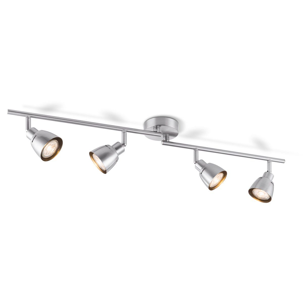 Home sweet home LED opbouwspot Aka 4 lichts ↔ 80,5 cm - mat staal