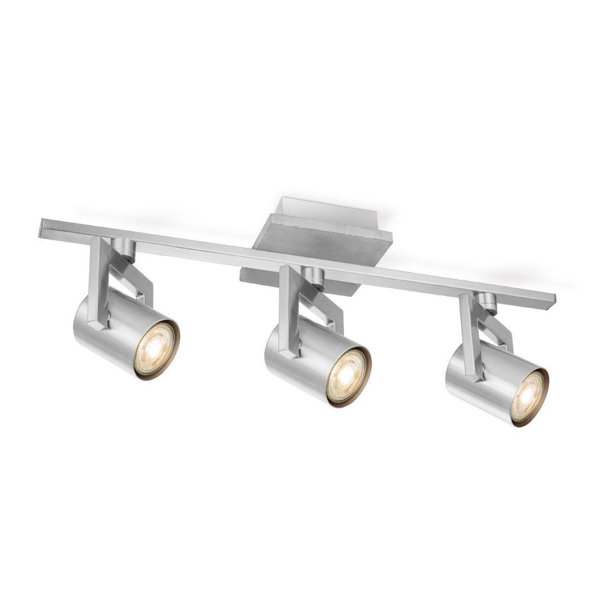 Home sweet home LED opbouwspot Concrete 3 lichts ↔ 49 cm - grijs