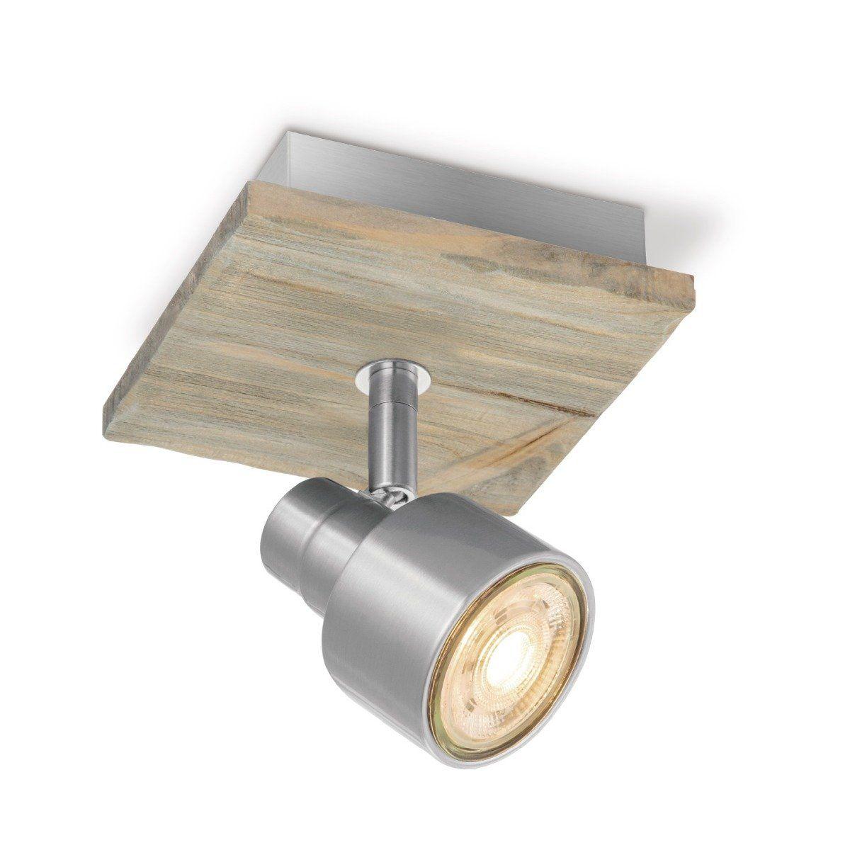 Home sweet home LED opbouwspot Drift ↔ 12 cm - mat staal