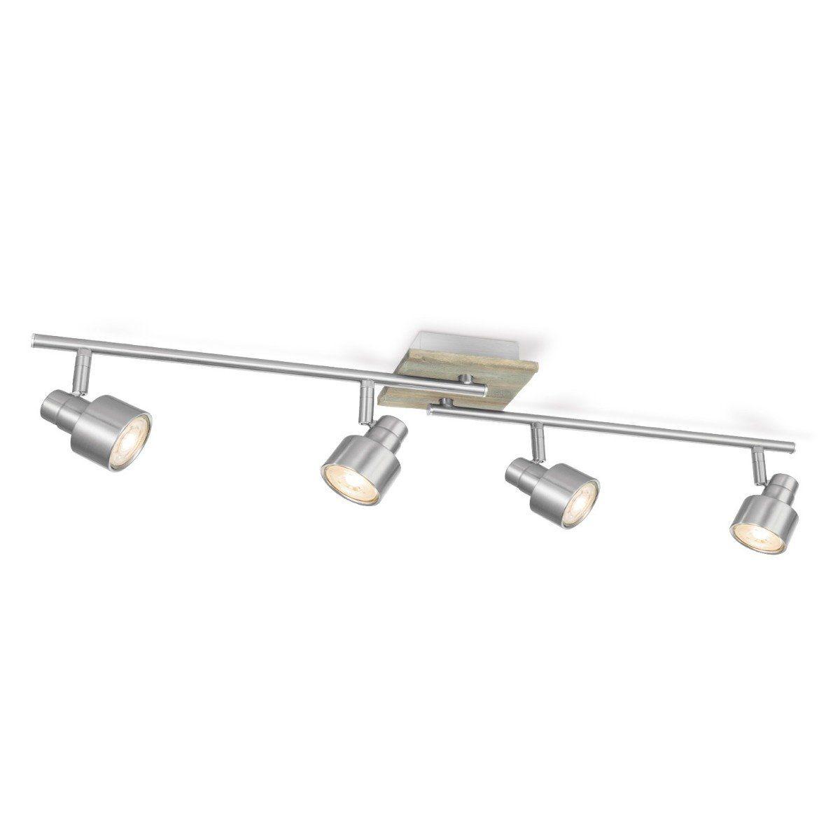 Home sweet home LED opbouwspot Drift 4 lichts ↔ 80,5 cm - mat staal