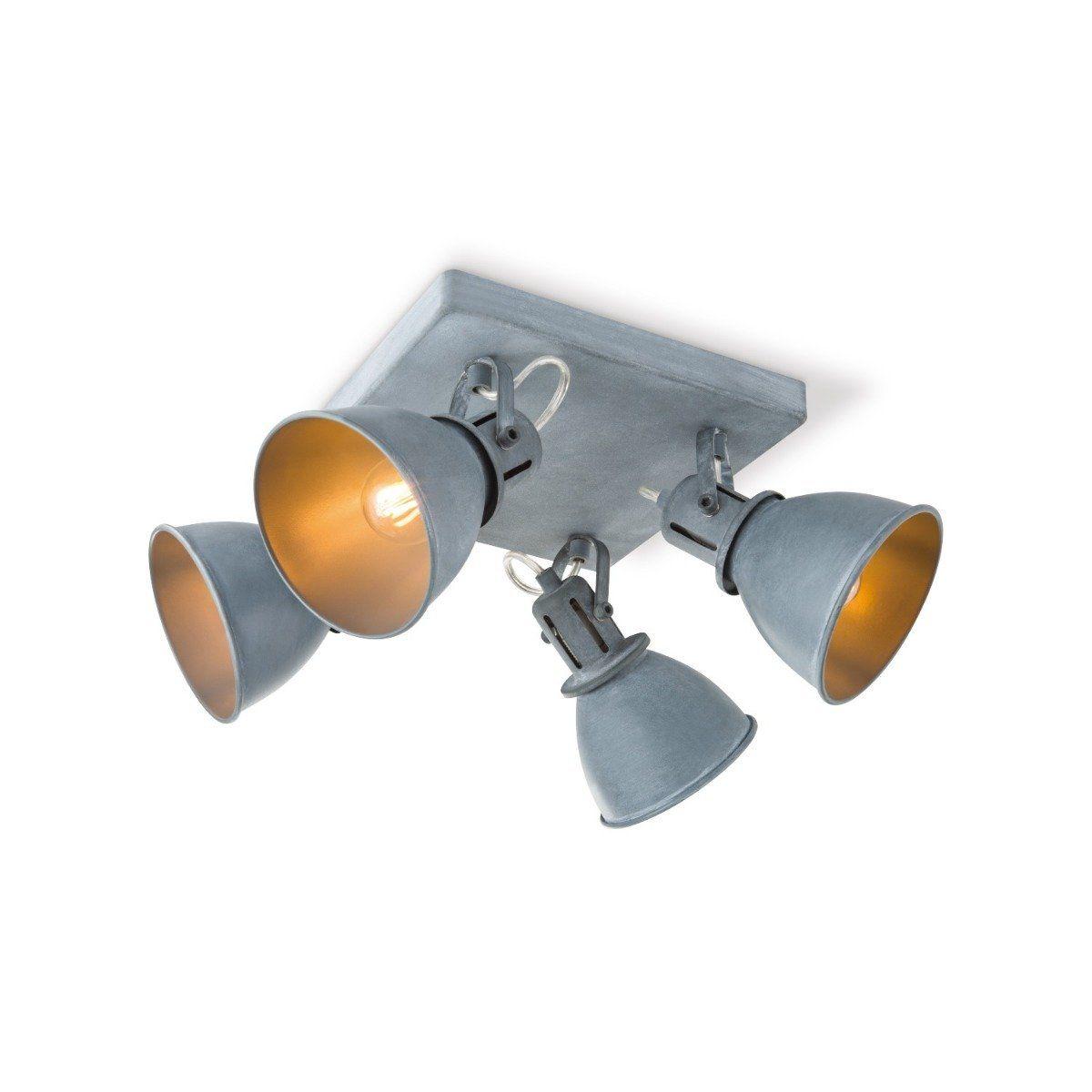 Home sweet home LED opbouwspot Fama 4 lichts Ø 23 cm - grijs betonlook