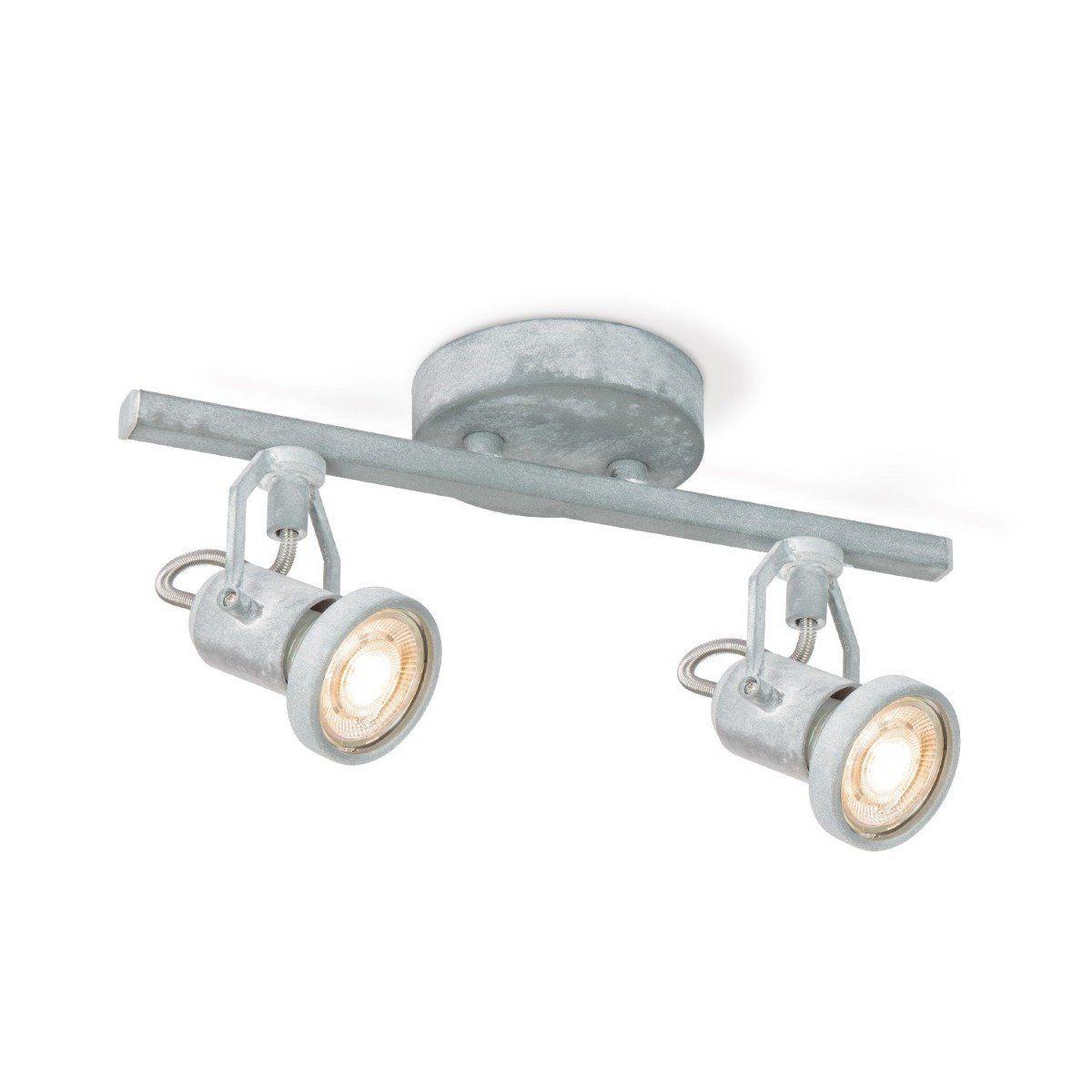 Home sweet home LED opbouwspot Must 2 lichts ↔ 33,5 cm - betongrijs