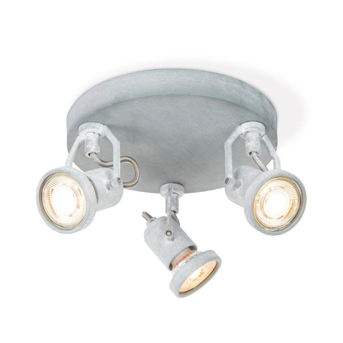 Home sweet home LED opbouwspot Must 3 lichts Ø 19 cm - betongrijs