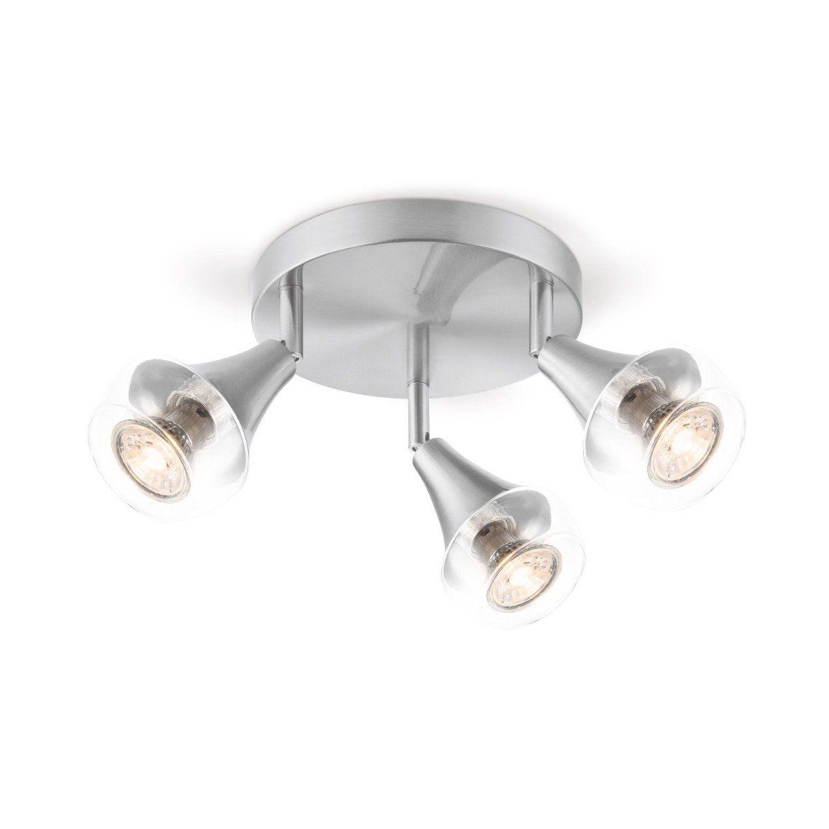 Home sweet home LED opbouwspot Vaya 3 lichts Ø 19 cm - mat staal