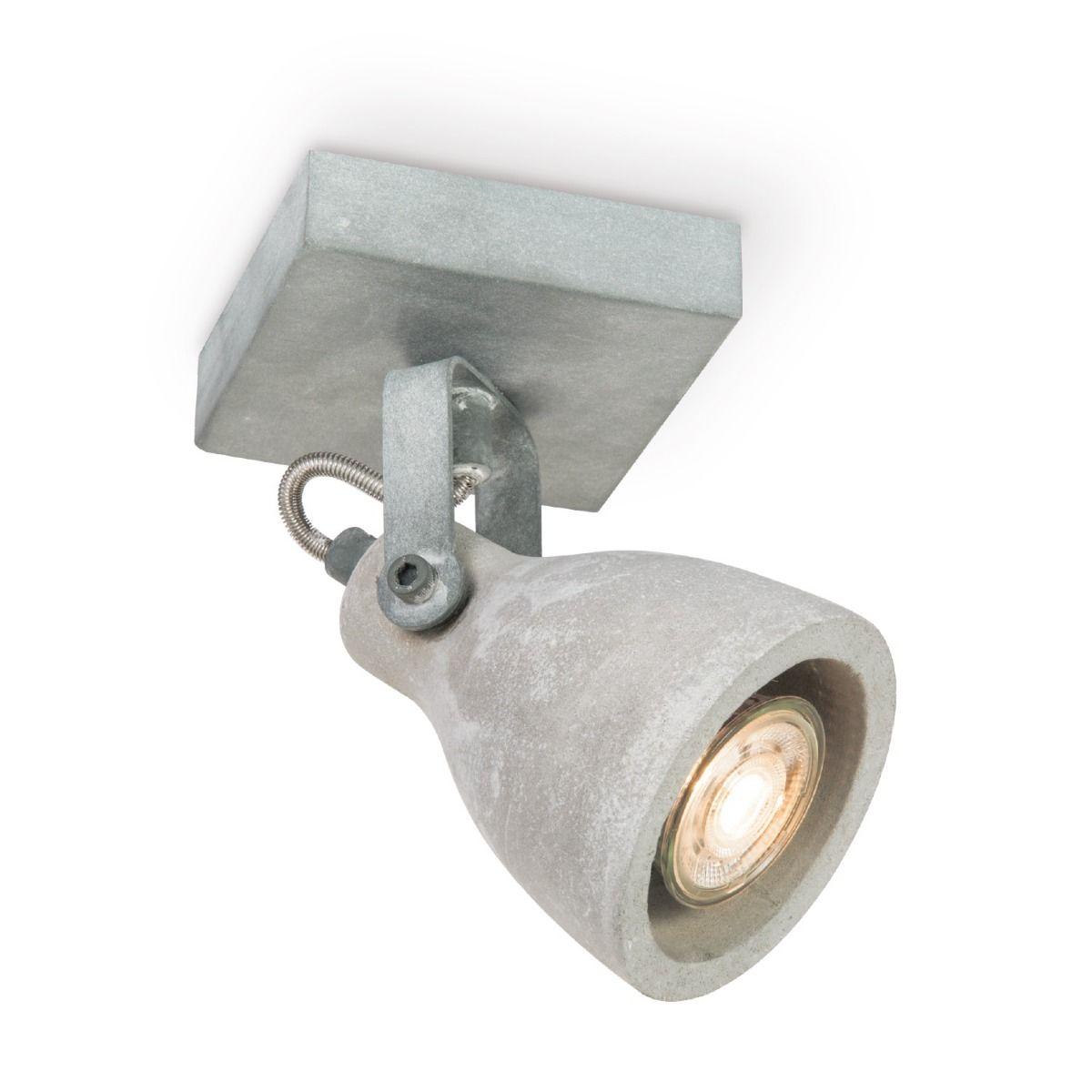 Home sweet home LED opbouwspot Vedi ↔ 9,5 cm - betongrijs