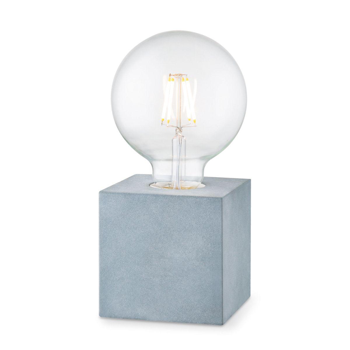Home sweet home tafellamp Dry 10 vierkant - betongrijs