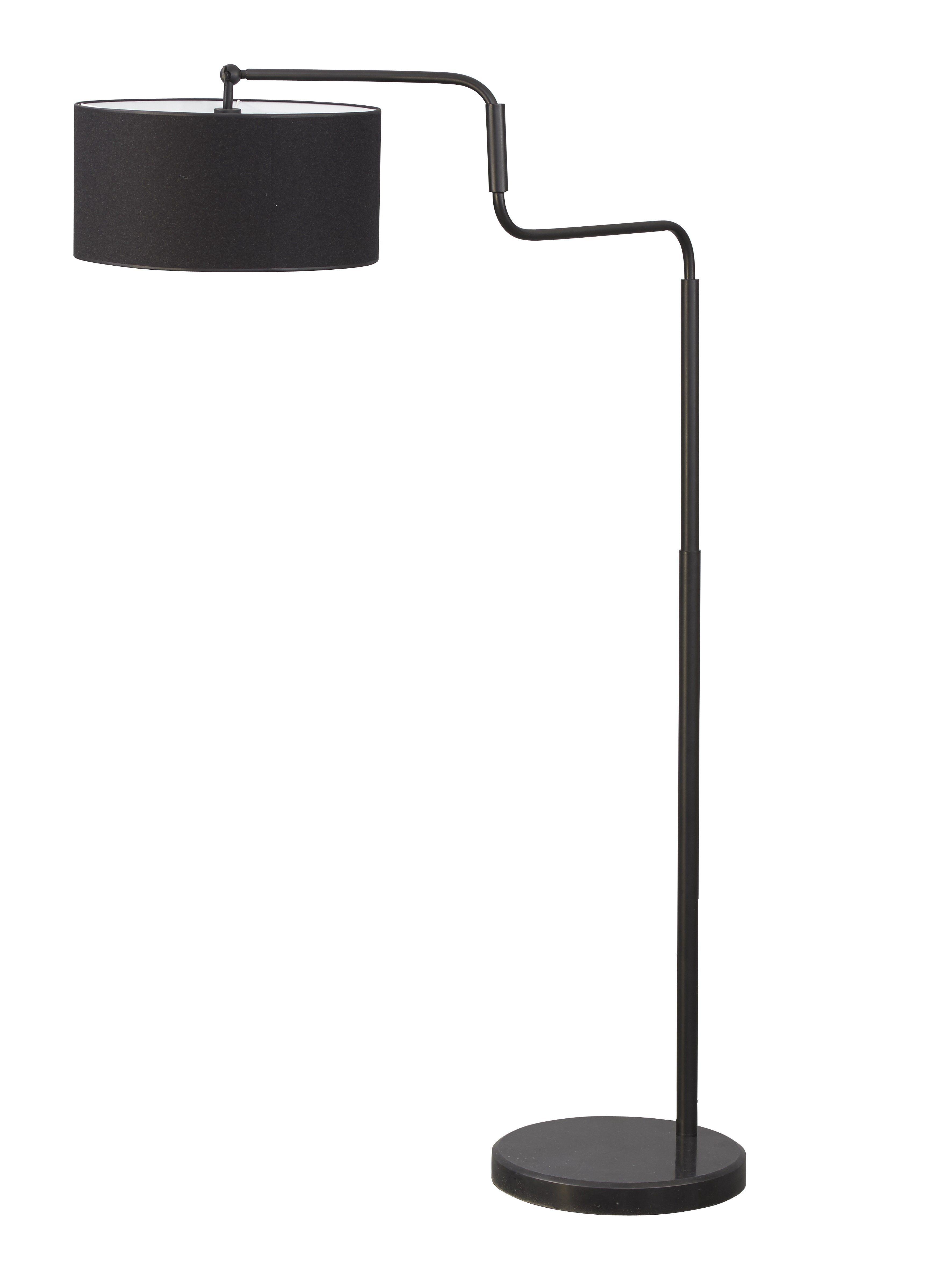 Home sweet home vloerlamp Grant - zwart - excl. kap