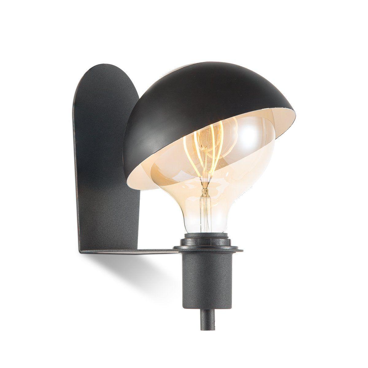 Home sweet home wandlamp Dyna - zwart