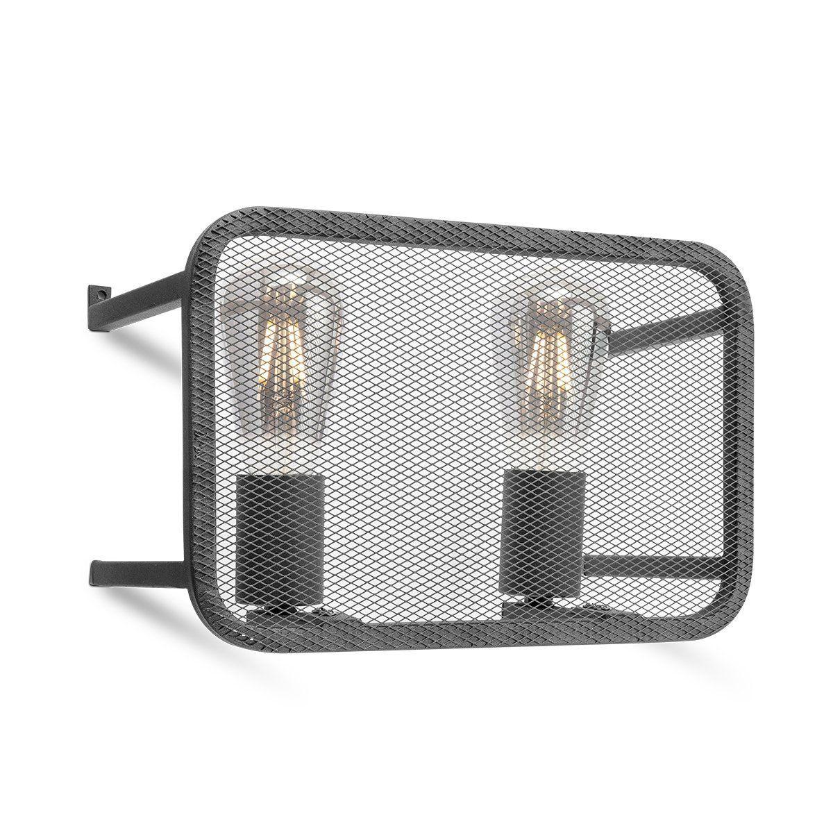 Home sweet home wandlamp Weave 2 lichts - zwart