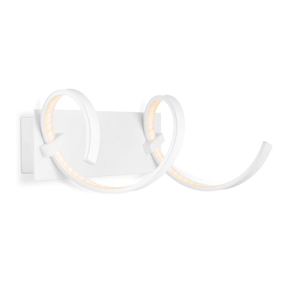 Home sweet home wandlamp LED Twist  45 cm - wit