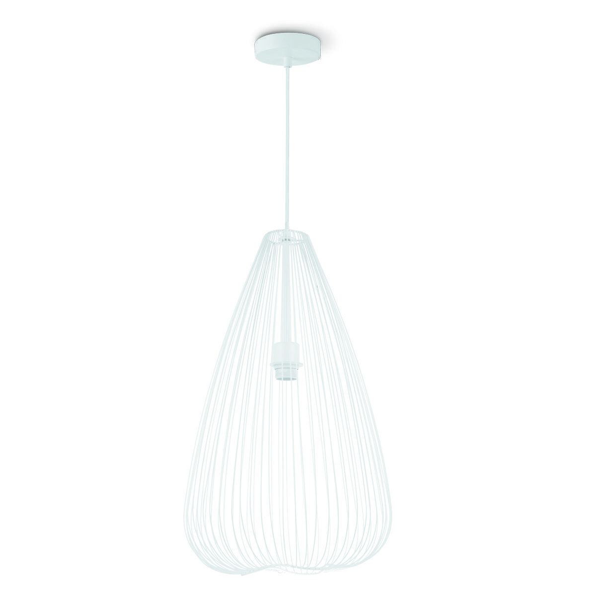 Home sweet home hanglamp Cage Ø 35 cm - wit