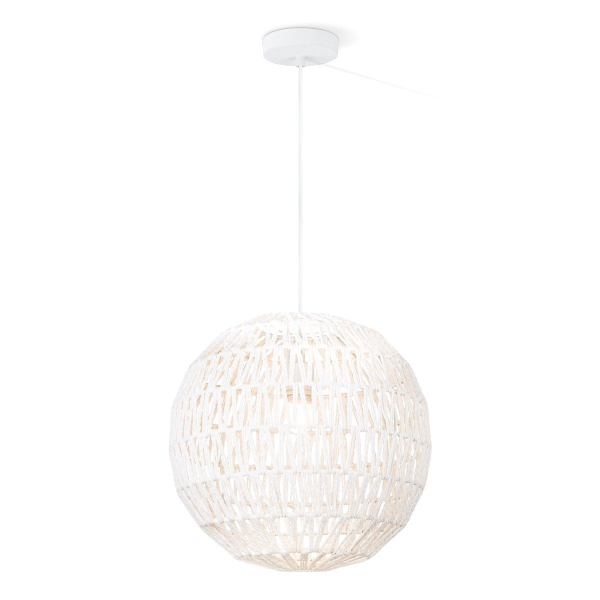ROPE 40 HANGLAMP SPHERE WIT