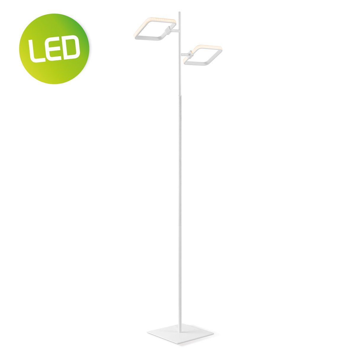 HOME SWEET HOME vloerlamp LED cuby  147 cm wit