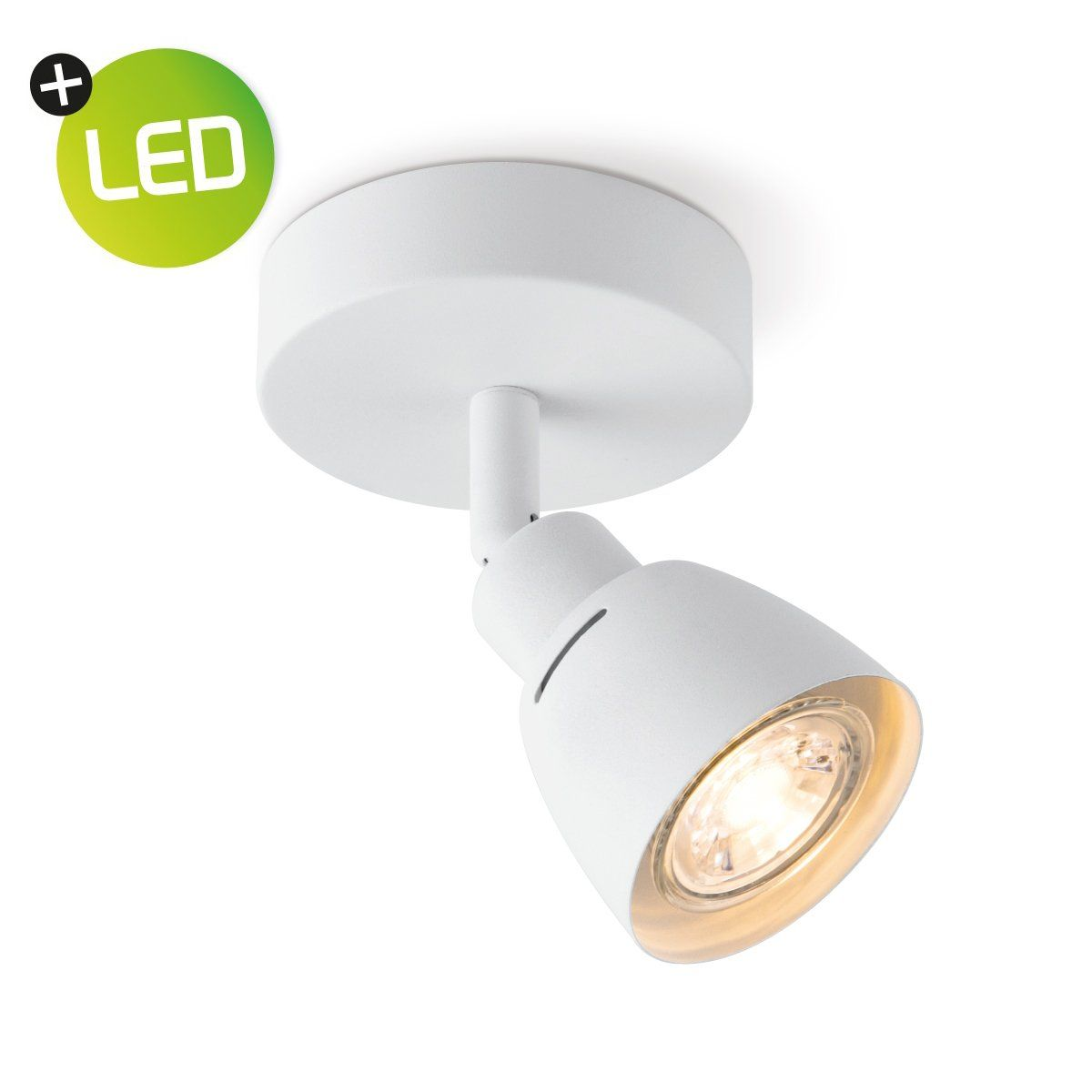 HOME SWEET HOME LED opbouwspot aka � 9,5 cm wit