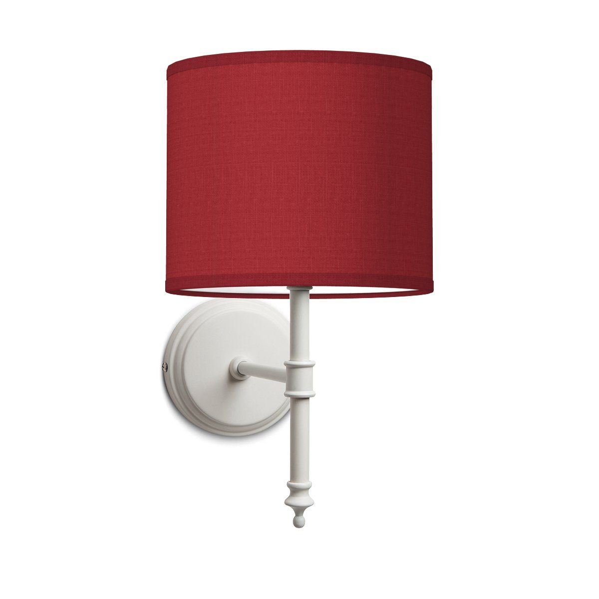 HOME SWEET HOME wandlamp baroc white bling Ø 20 cm - Pompeian red