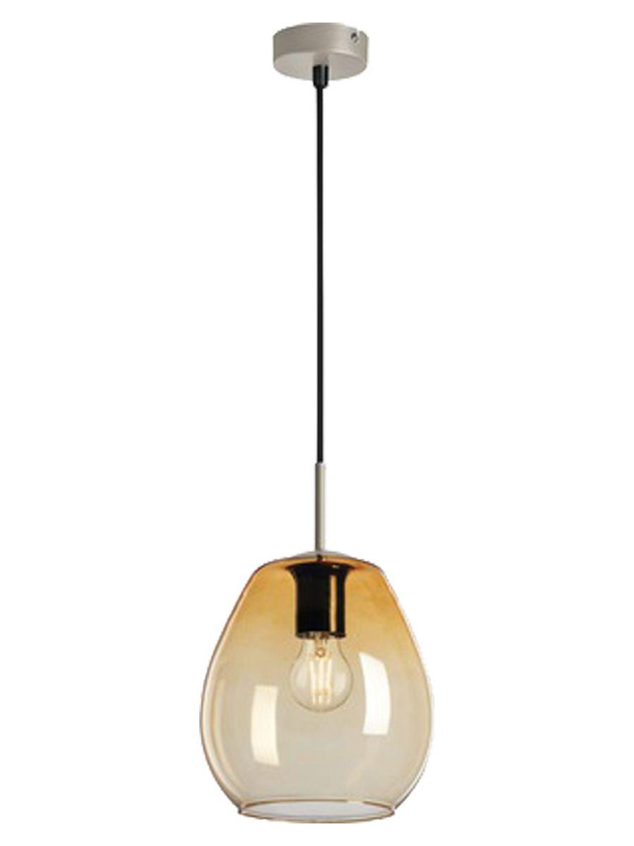 Light depot hanglamp Ovaal E27 - amber glas