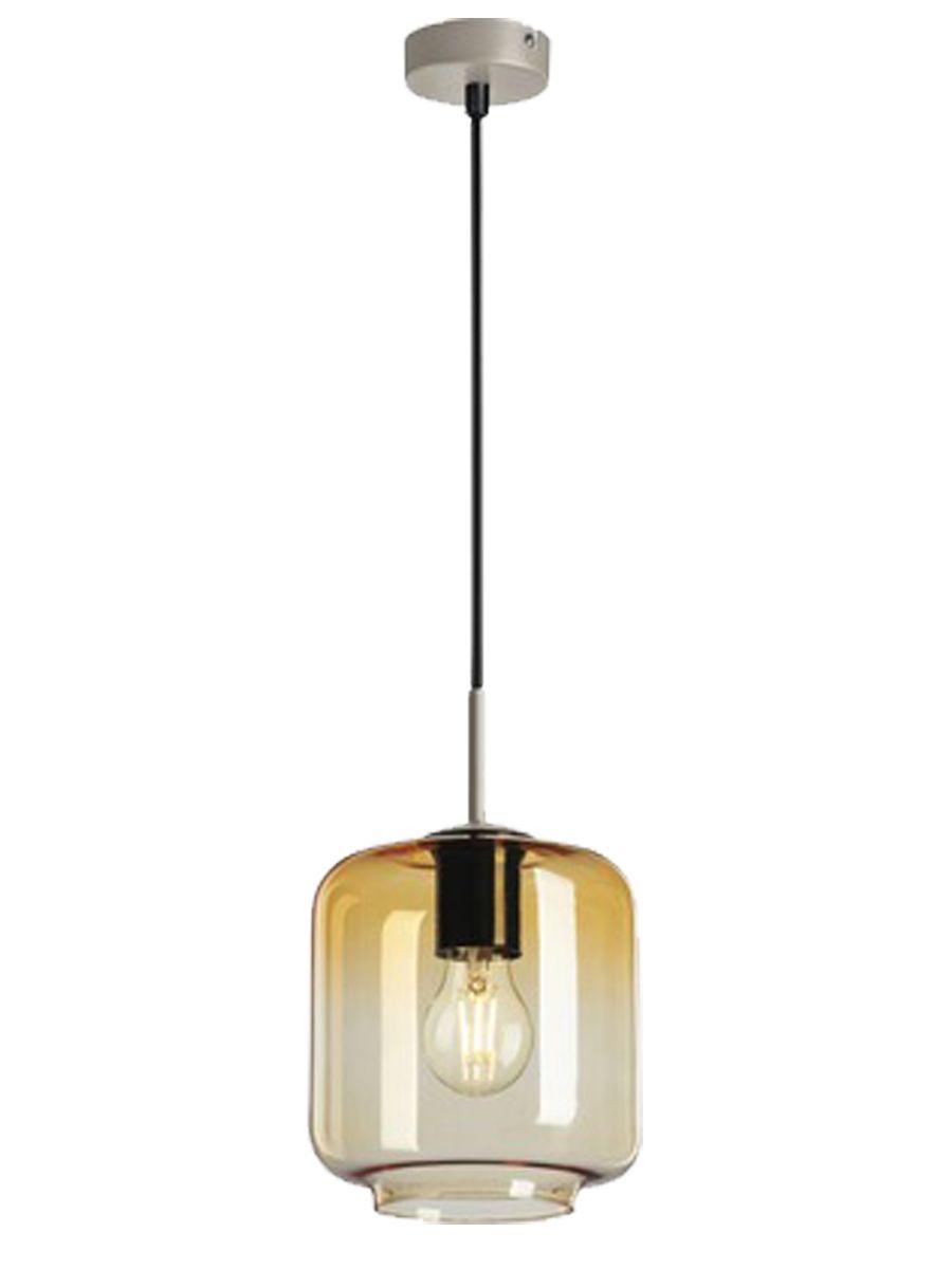 Light depot hanglamp Cylinder E27 - amber glas