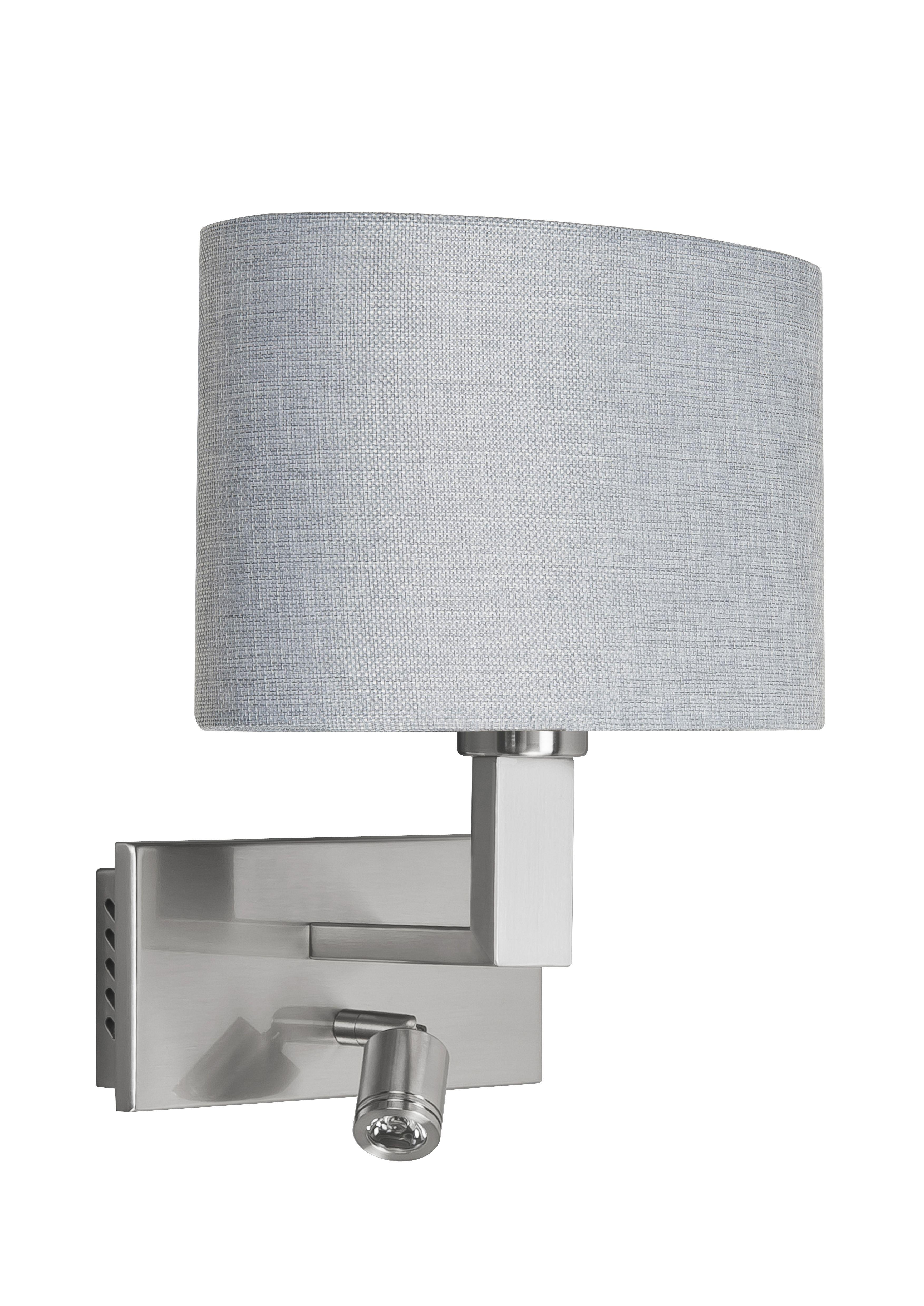 HighLight wandlamp New Oval met leeslamp - grijs - mat staal